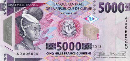 Rep Guinee 5000 Frank 2015 UNC