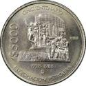 Mexico 5000 Pesos 1988 UNC