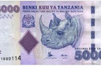 Tanzania 5000 Shilling 2015 UNC