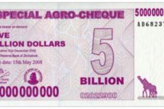 Zimbabwe 5000.000.000 Dollar 2008