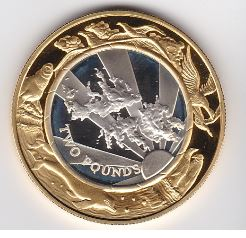 Falkland Island 2 Pound 1999 Proef