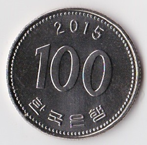 100 Won 2015 UNC