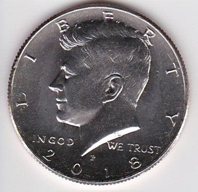 1/2 Dollar 2018 P