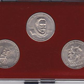 Set van 3 Munten 1982 UNC