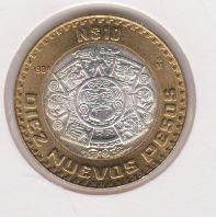 Mexico 10 Pesos  1994 UNC