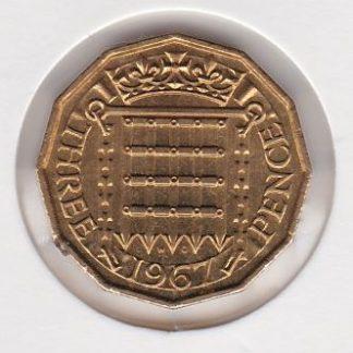 3 Penny 1967 UNC