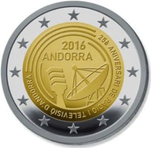 Andorra 2 Euro Speciaal 2016 UNC