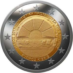 Cyprus 2 Euro Speciaal 2017 UNC
