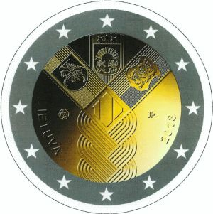 Litouwen 2 Euro Speciaal 2018 UNC