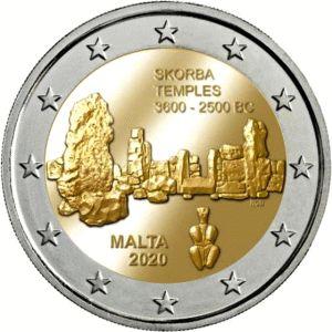 Malta 2 Euro Speciaal 2020 Zonder letter UNC