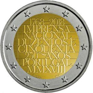 Portugal 2 Euro Speciaal 2018 UNC